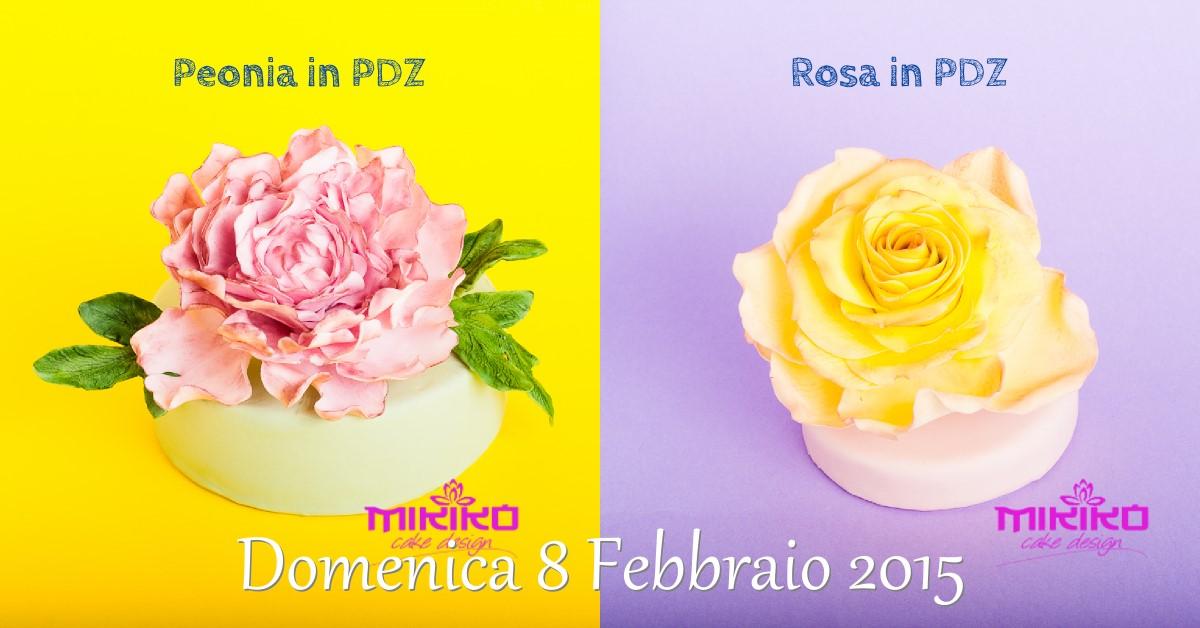 Immagine dei fiori del corso di cake design del 08-02-2015