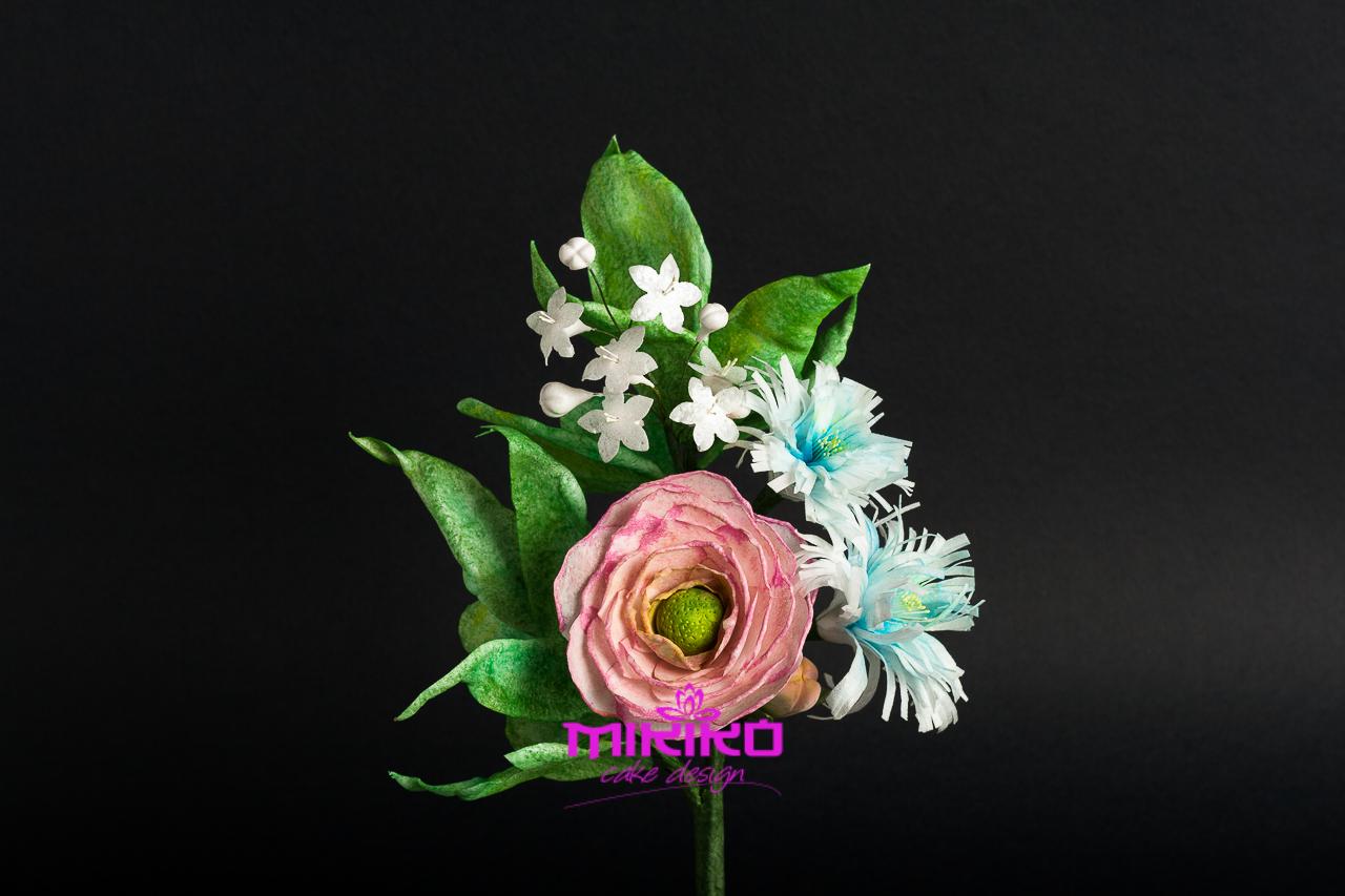 Immagine dei fiori che faremo al corso di wafer paper